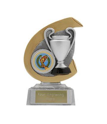 "Achievement Hoopla Trophy Gold & Silver 12cm (4.75"")"