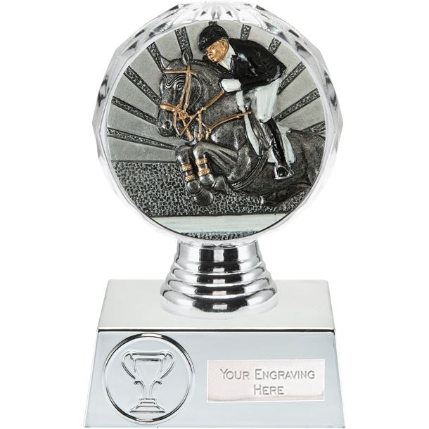 "Show Jumping Trophy Silver Hemisphere 13.5cm (5.25"")"