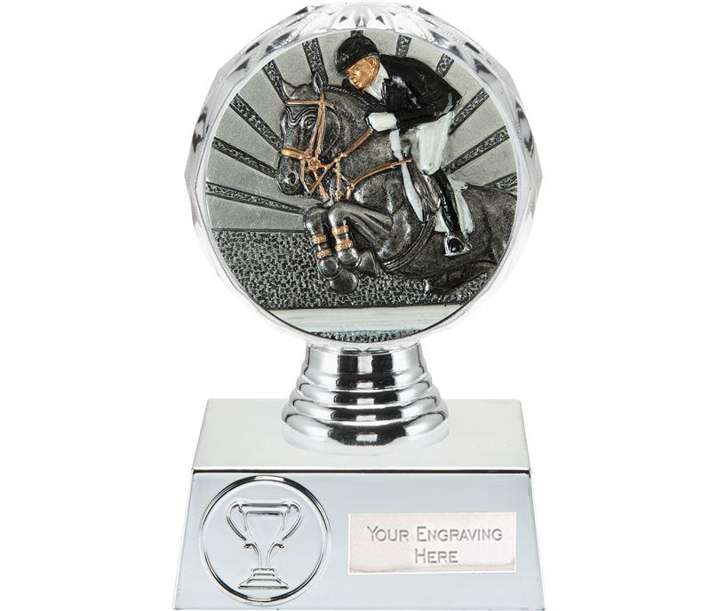 "Show Jumping Trophy Silver Hemisphere 13.5cm (5.25"")"