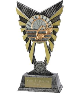 "Valiant Swimming Trophy Silver 23cm (9"")"