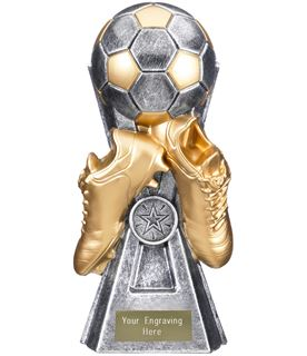 "Gravity Football Trophy Antique Silver 16cm (6.25"")"