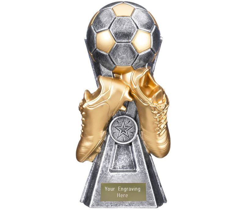 "Gravity Football Trophy Antique Silver 26cm (10.25"")"