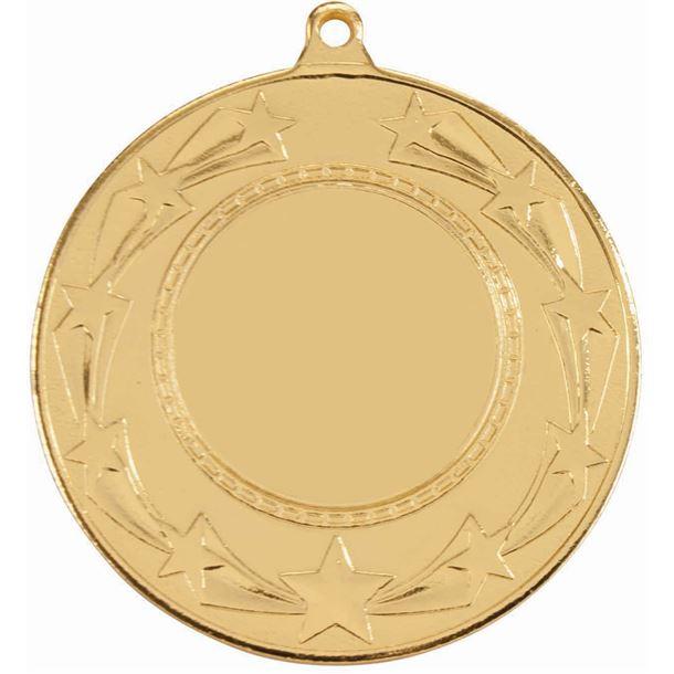 "Star Burst Medal Gold 50mm (2"")"