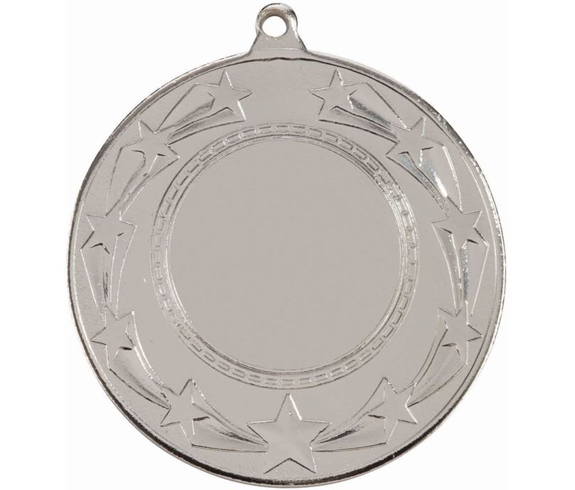 "Star Burst Medal Silver 50mm (2"")"