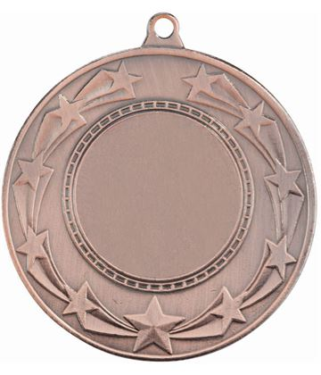 """Star Burst Medal Bronze 50mm (2"""")"""