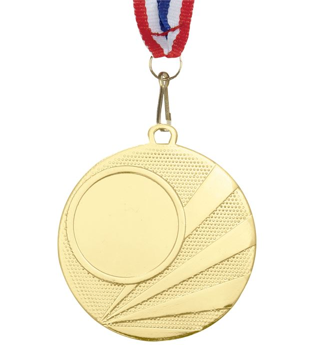 "Multisport Gold Medal with Medal Ribbon 50mm (2"")"