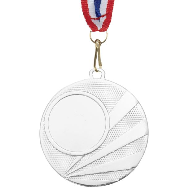 """Multisport Silver Medal with Medal Ribbon 50mm (2"""")"""