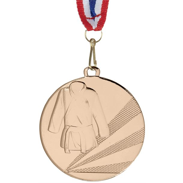 "Martial Arts Bronze Medal with Medal Ribbon 50mm (2"")"
