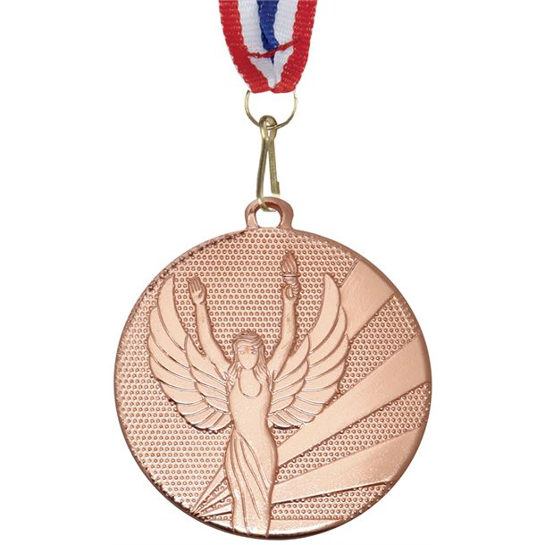 """Victory Bronze Medal with Medal Ribbon 50mm (2"""")"""