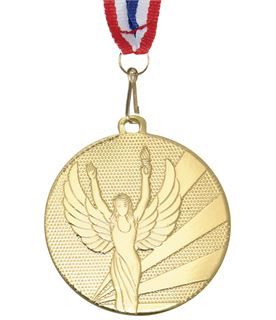 "Victory Gold Medal with Medal Ribbon 50mm (2"")"
