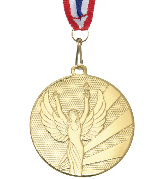 """Victory Gold Medal with Medal Ribbon 50mm (2"""")"""