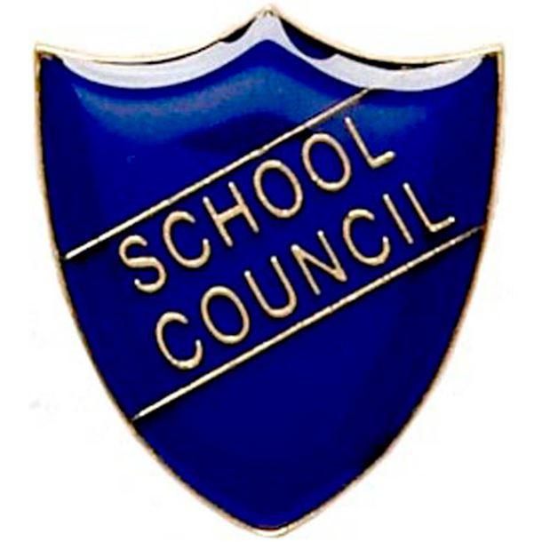 School Council Shield Badge Blue 22mm x 25mm