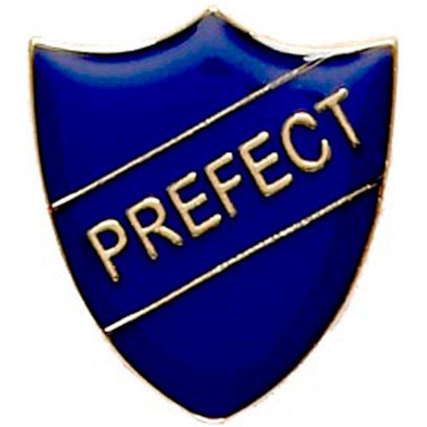 Prefect Shield Badge Blue 22mm x 25mm