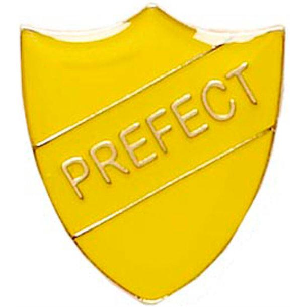 Prefect Shield Badge Yellow 22mm x 25mm