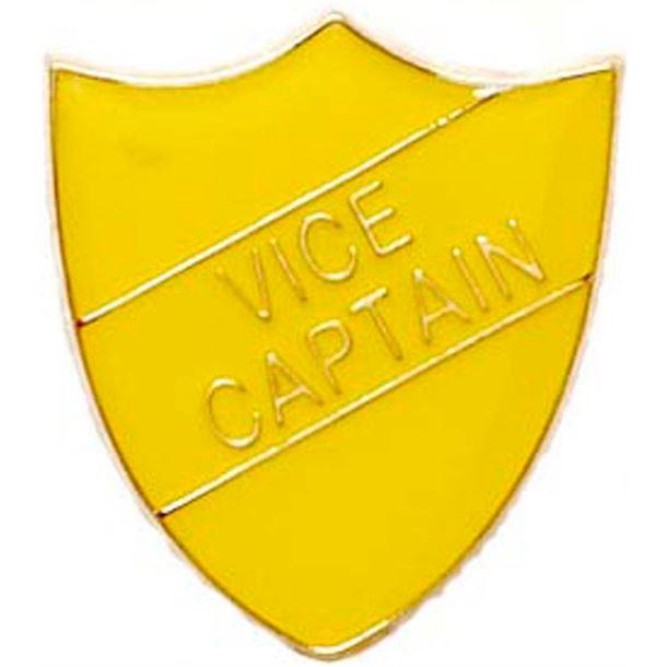 Vice Captain Shield Badge Yellow 22mm x 25mm