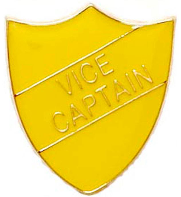Vice Captain Shield Badge Yellow 22mm x 25mm