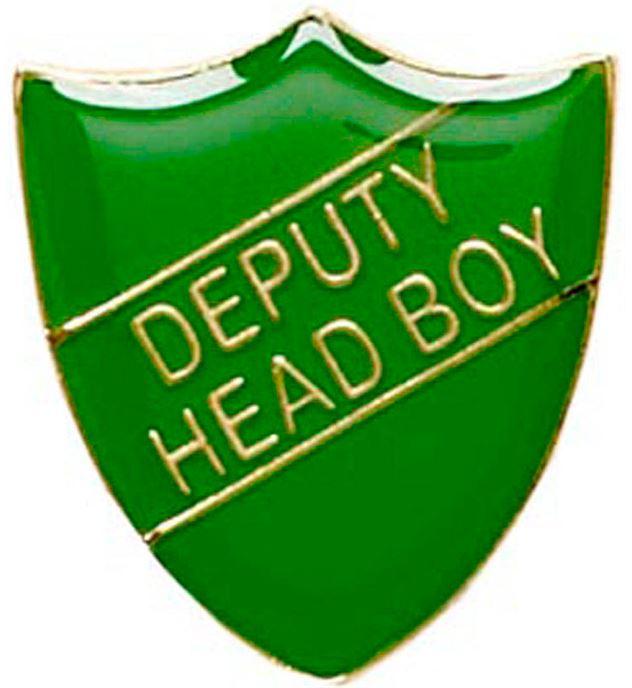 Deputy Head Boy Shield Badge Green 22mm x 25mm