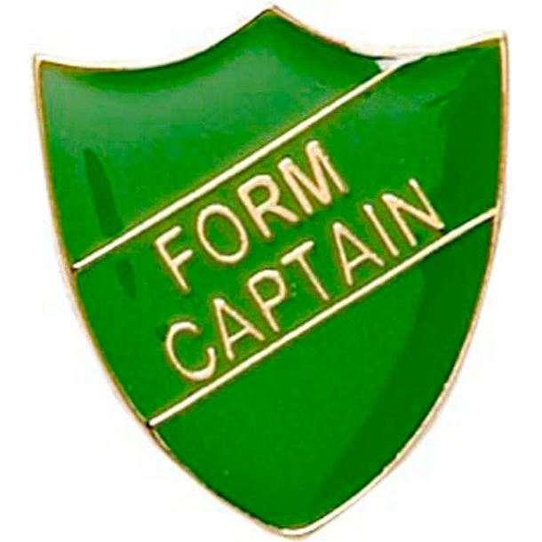 Form Captain Shield Badge Green 22mm x 25mm