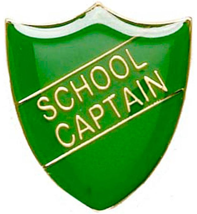 School Captain Shield Badge Green 22mm x 25mm