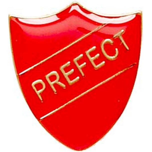 Prefect Shield Badge Red 22mm x 25mm