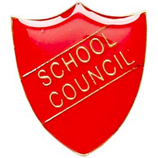 School Council Shield Badge Red 22mm x 25mm