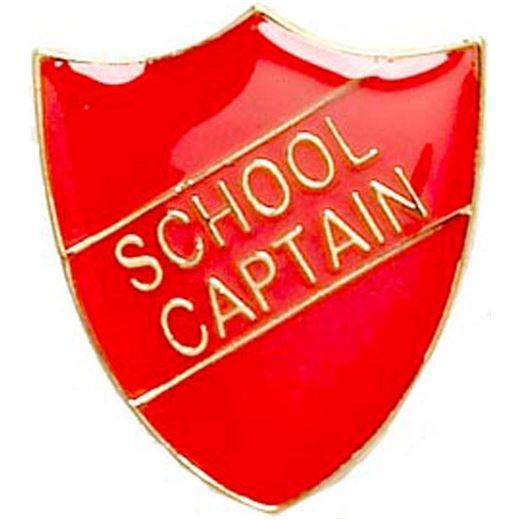 School Captain Shield Badge Red 22mm x 25mm