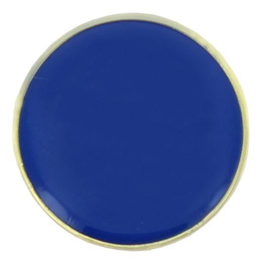 Blue Round Lapel Badge 20mm