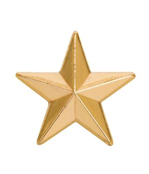 Gold Star Lapel Badge 12mm