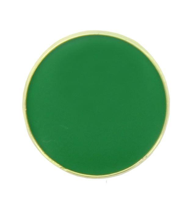 Green Round Lapel Badge 20mm