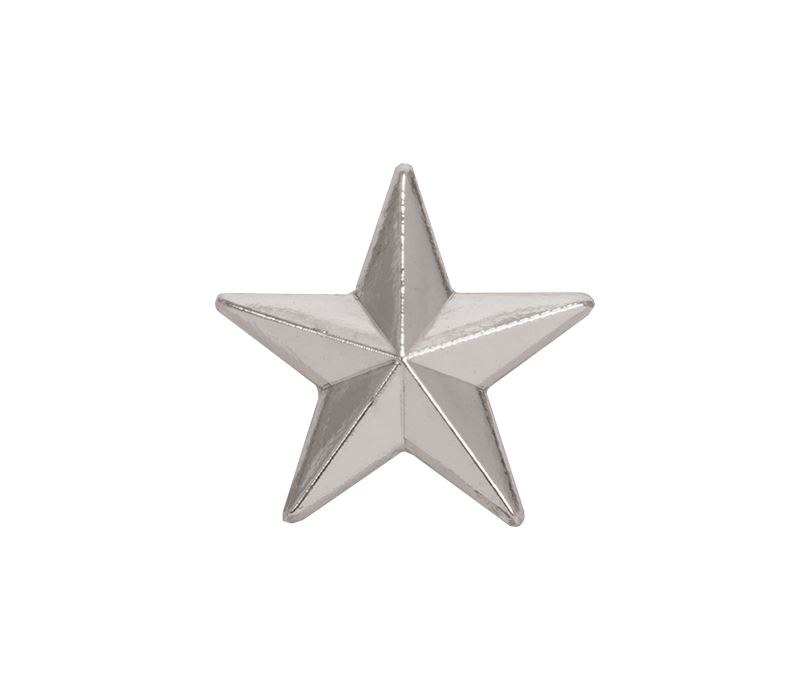 Silver Star Lapel Badge 12mm