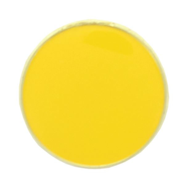 Yellow Round Lapel Badge 20mm