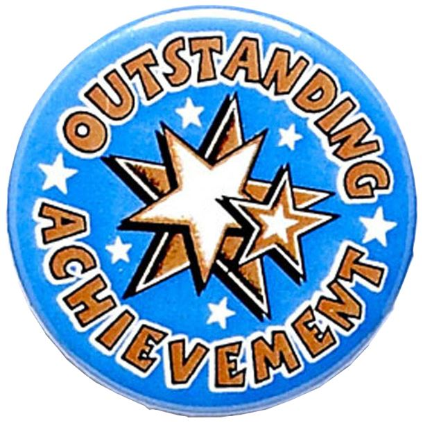 "Outstanding Achievement Pin Badge 25mm (1"")"