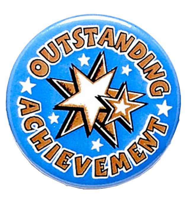 "Outstanding Achievement Pin Badge 25mm (1"")"