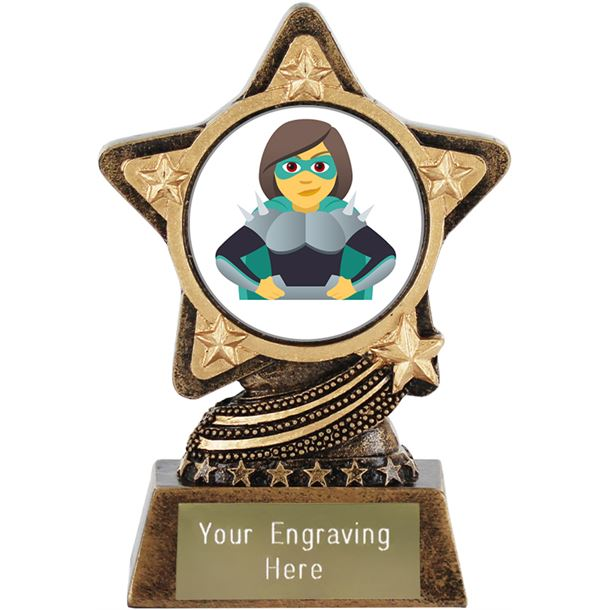 "Woman Supervillian Emoji Trophy by Infinity Stars 10cm (4"")"