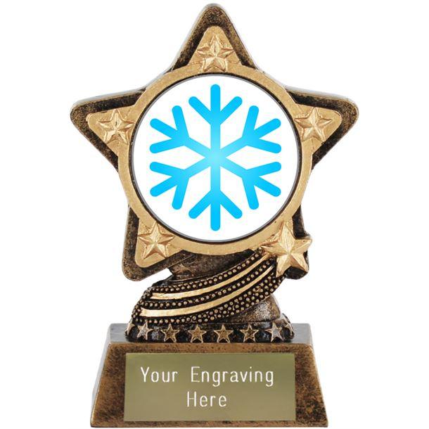 "Snowflake Emoji Trophy by Infinity Stars 10cm (4"")"