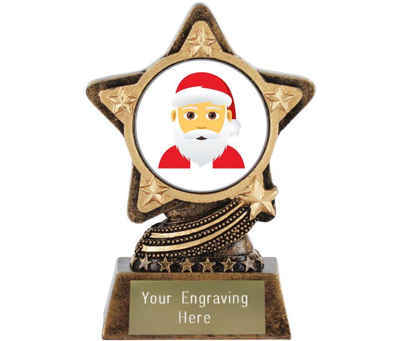 "Santa Claus Emoji Trophy by Infinity Stars 10cm (4"")"
