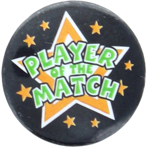 "Player Of The Match Pin Badge 25mm (1"")"