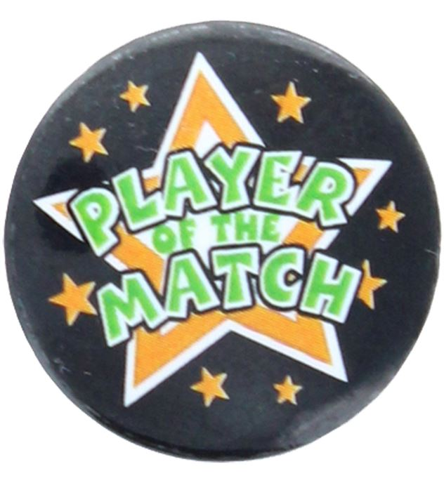 """Player Of The Match Pin Badge 25mm (1"""")"""
