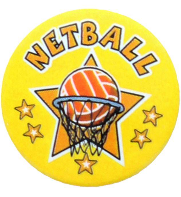 "Netball Star Pin Badge 25mm (1"")"