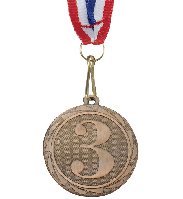 "3rd Place Fusion Medal Bronze with Medal Ribbon 45mm (1.75"")"