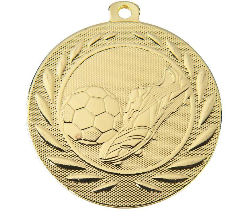 "Football Boot and Ball Gallant Medal Gold 50mm (2"")"