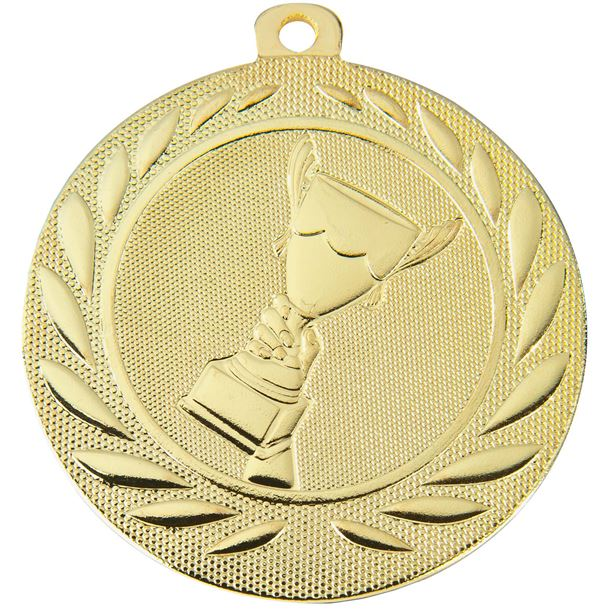 """Trophy Cup Gallant Medal Gold 50mm (2"""")"""