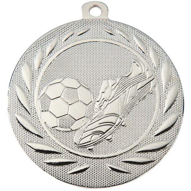 """Football Boot and Ball Gallant Medal Silver 50mm (2"""")"""