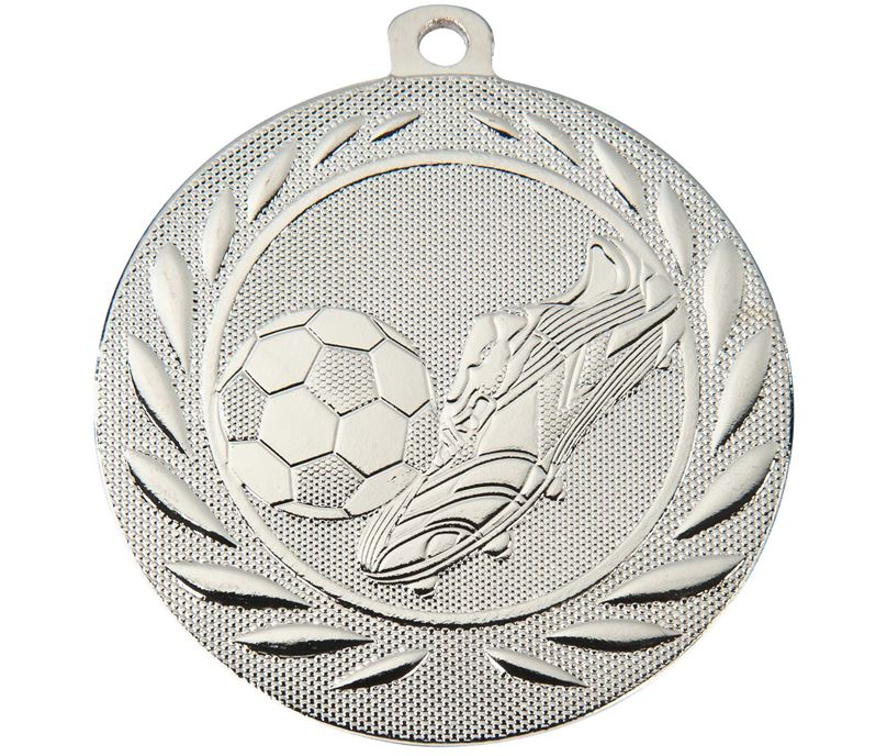 "Football Boot and Ball Gallant Medal Silver 50mm (2"")"