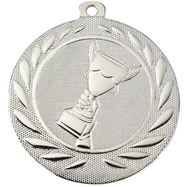 """Trophy Cup Gallant Medal Silver 50mm (2"""")"""