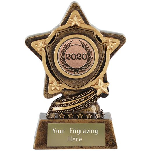 "2020 Bronze Centre Shield Trophy by Infinity Stars 10cm (4"")"