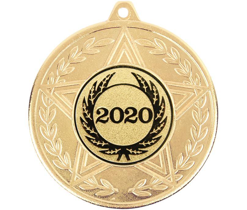 "Caesar 2020 Achievement Medal Gold 50mm (2"")"