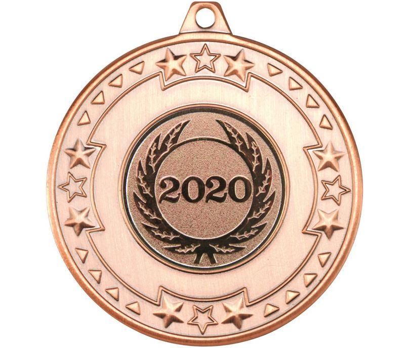 "Star & Pattern 2020 Medal Bronze 50mm (2"")"