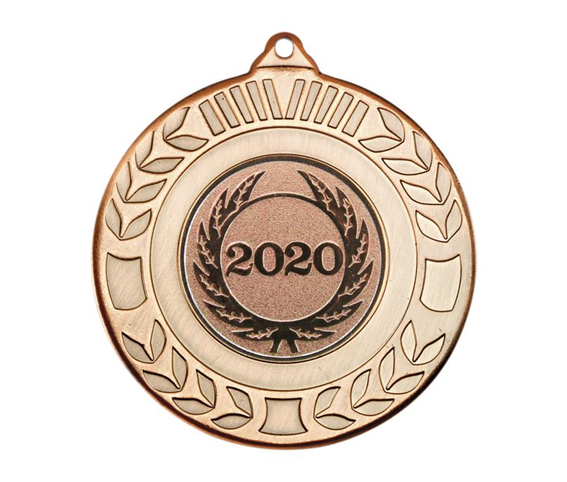 """Laurel Wreath 2020 Medal Bronze 50mm (2"""")"""