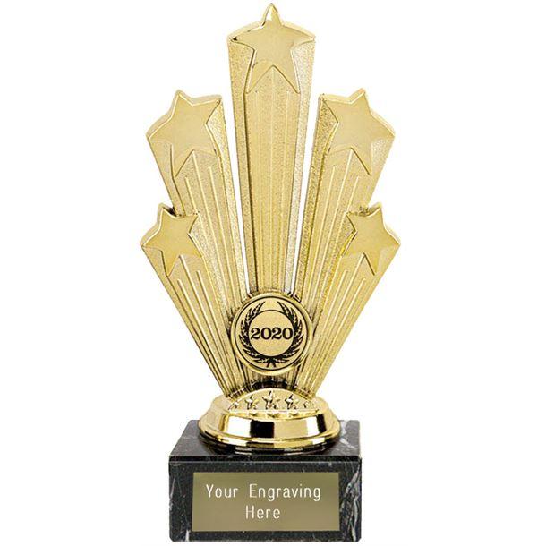 """2020 Star Supreme Trophy On Marble Base Gold 18.5cm (7.25"""")"""
